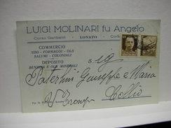 LONATO    - BRESCIA  ---  LUIGI  MOLINARI  FI ANGELO  --- COMMERCIO  VINI E FORMAGGI - Brescia