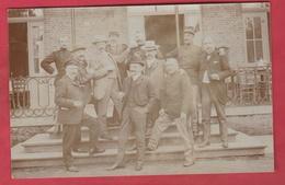 Wijgmaal ?? - Groep Mensen ... Sodaten - 1907- Fotokaart ( Verso Zien) - Peer