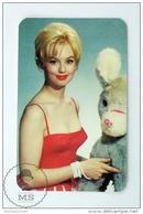 Vintage 1966 Small Calendar - Cinema/ Actors Topic: Actress: Mylène Demongeot - Tamaño Pequeño : 1961-70