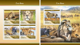 GUINEA REP. 2017 ** Lions Löwen M/S+S/S - IMPERFORATED - DH1735 - Raubkatzen