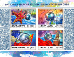 SIERRA LEONE 2017 ** Sputnik 1 Space Raumfahrt Espace M/S - OFFICIAL ISSUE - DH1735 - Africa