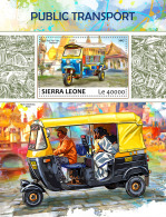 SIERRA LEONE 2017 ** Tuk Tuk Taxi Public Transport S/S - OFFICIAL ISSUE - DH1735 - Moto
