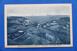 Cartolina - Cordova (Comune Di Gassino) - Panorama Con Sfondo Alpino - 1913 Ca. - Italia