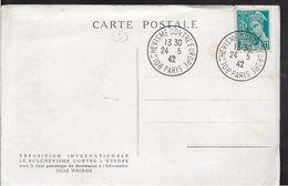 Guerre 39 40 Carte L'Europe Contre Le Bolchevisme Verso CAD Bolchevisme Contre Europe 1942 Sur Mercure  .....G - Poststempel (Briefe)