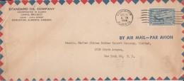 Canada / USA  1944   6c Air  Birds + 1c   Stamp  Edmonton  Cover  #  00797   D - 1937-1952 Reign Of George VI