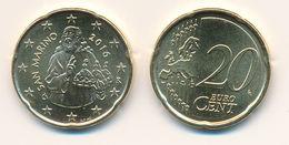 SAN MARINO 2016 - Original Oficial 20 Céntimos Moneda De Curso - UNCIRCULATED - San Marino