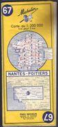 Carte Michelin 67 - Nantes Poitiers - Edition 1970 - Callejero