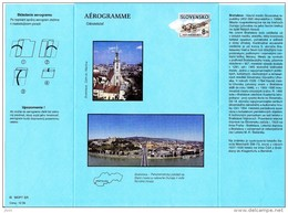 Aérogramme 1998 Neuf  Bratislava Avion Savoia Marchetti SM-73 (1937) Compagnie CSA  / Luftpostaltbriefe LF2 - Ganzsachen
