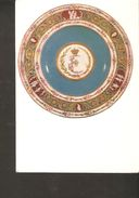 K. Russia USSR Soviet Postcard Pottery Porcelain A Plate Of Sevres Service In A Cameo State Hermitage Museum Exhibit - Articles Of Virtu