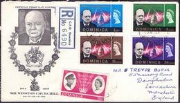 DOMINICA - CHURCHIL - Recomm.  FDC - 1965 - Sir Winston Churchill