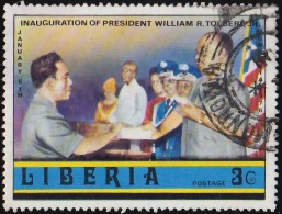 LIBERIA - Scott #733 Inauguration Of President William R. Tolbert Jr. / Used Stamp - Liberia