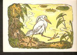 K. Russia USSR Soviet Postcard Russian Tales Bird Crane And Heron Fairy Tale Story By Alekseev Artist - Fairy Tales, Popular Stories & Legends