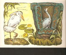 K. Russia USSR Soviet Postcard Russian Tales Birds Crane And Heron Fairy Tale Story Illustration By Alekseev Artist - Fairy Tales, Popular Stories & Legends