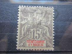 VEND BEAU TIMBRE DE SENEGAMBIE ET NIGER N° 6 , X !!! - Unused Stamps