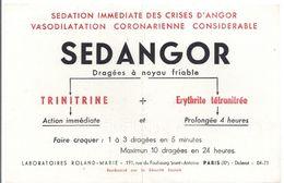 Buvard SEDANGOR -trinitrine -erythrite Tétranitrée - Produits Pharmaceutiques