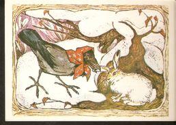 K. Russia USSR Soviet Postcard Russian Tales Hare Brag Bragging Fairy Tale Story Animal Crow Illustration By Alekseev - Fairy Tales, Popular Stories & Legends