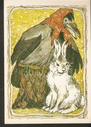 K. Russia USSR Soviet Postcard Russian Tales Hare Brag Bragging Fairy Tale Animal Bird Crow Illustration By Alekseev - Fairy Tales, Popular Stories & Legends