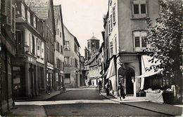 - Depts Div.-ref-TT459- Bas Rhin - Haguenau - Grande Rue - Tabac - Restaurant - Magasins - Etal De Marche - - Haguenau