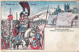 Hannibal Barca Visiting Theatre Of War Guerre In London Antique Postcard - Illustrateurs & Photographes