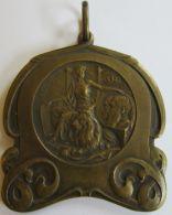 M02030  LEOPOLD I LEOPOLD II - 75me ANNIVERSAIRE DE L'INDEPEDENCE DE LA BELGIQUE - 1830-1905 (50g) Belière - Royal / Of Nobility