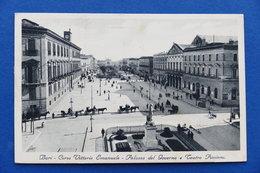 Cartolina - Bari - Corso Vittorio Emanuele Palazzo Governo Teatro Piccinni 1934 - Bari