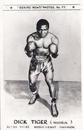 Dick Tiger Boxer Boxing News Real Photo Postcard - Autographs