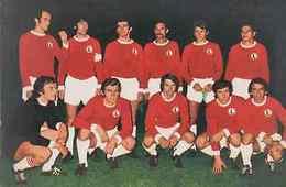 Legia Warsaw Poland 1970s European Football Squad Team Postcard - Unclassified