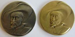M02050  RUBENS - ANNUS RUBENIANUS 1977 - Son Buste  (10g - 12g)  Blason Au Revers - Deux Médailles Dont Une En Argent - Royal/Of Nobility