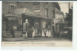 45 ORLEANS Hôtel De L'Abattoir , Rue Faubour Madeleine ,Pompe Essence Moto Naphta ,façade Avec Personnel - Orleans