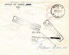 """Belgian Congo 1960 Bunia Meter Franking Hasler """"F88"""" B29 Town Mark Removed Instructional Handstamps Domestic - Republiek Congo (1960-64)"""