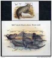AZERBAIJAN 1997 Caspian Seal Sheetlet + Block MNH / ** - Azerbaïjan
