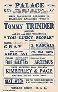 Tommy Trinder Cyril Fletcher Albert Sandler 1930s Reading Theatre 2x Handbill S - Unclassified