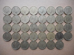 Luxembourg 5 Francs 1986-1990 (Lot Of 38 Coins) - Lussemburgo