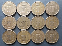 Luxembourg 20 Francs 1980-1983 (Lot Of 12 Coins) - Lussemburgo