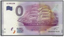 Billet Touristique 0 Euro  2016   Voilier LE BELEM  120 Ans - EURO