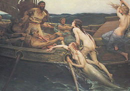 Herbert Draper Ulysses & The Sirens Yorkshire Mythology Art Painting Postcard - Illustrateurs & Photographes