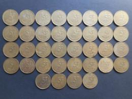 Belgium 5 Francs 1986-1993 (Lot Of 50 Coins) - 03. 5 Francs