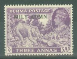 Burma: 1945   KGVI 'Military Administration' OVPT    SG43     3a   MNH - Burma (...-1947)