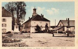 CPA -  VAUX  ET  CHANTEGRUE  (25)   Mairie Et Monuments  1870-71   -   1914 - 1918  -   Carte Rare. - Andere Gemeenten
