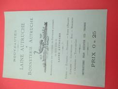 Notice D'instructions / Mercerie / Laine Et Bonneterie/Laine Autruche/ Nouveauté /Vers 1860-1880   CAT199 - Fatture & Documenti Commerciali