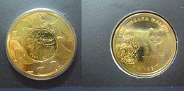 MALAYSIA 2011 1 Ringgit 50TH ANNIVERSARY OF WWF PANDA Commemorative Nordic Gold Coin BU - Malaysia