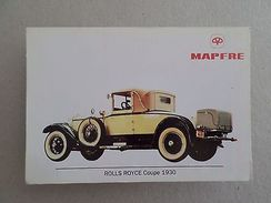 ART ADVERT CARD CLASSIC CAR CARS AUTOMOBILE ROLLS ROYCE COUPE 1930 SPAIN 1993 Z1 - Cartes Postales
