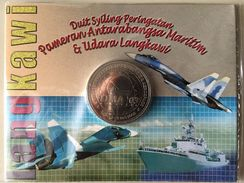 MALAYSIA 2003 LIMA Langkawi Kedah Maritime Aerospace Flight Jet Commemorative Nordic Gold BU 1 Ringgit Coin - Malaysia
