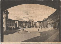 Z4397 San Severino Marche (Macerata) - Piazza Del Popolo / Non Viaggiata - Autres Villes