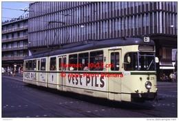 Reproduction D'une Photographie D´un Ancien Tramway Ligne 6 à Bochum En Allemagne Avec Publicité Vest Pils En 1973 - Repro's
