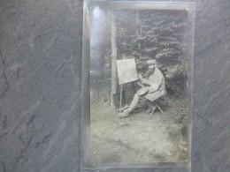 Guerre 14-18 Peintre Au Travail, Ressemble Beaucoup à RODIN ! Faire Offre ; Ref 757 Photo24 - War 1914-18
