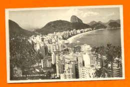 REAL PHOTO BRAZIL BRASIL RIO DE JANEIRO COPACABANA 1940 Years - Postcards