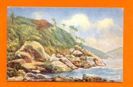 Postcard OCEAN LINER ISSUE ROYAL MAIL UK BRAZIL SANTOS BRASIL - Postcards
