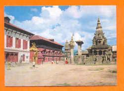 POSTCARD ASIA NEPAL BHAKTAPUR DURBAR SQUARE 1960 YEARS - Postcards