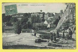 * Lourdes (Dép 65 - Hautes Pyrénées - France) * (Edition F. Viron, Nr 40) Laveuses Au Bord Du Gave, Pont, TOP, Canal - Lourdes